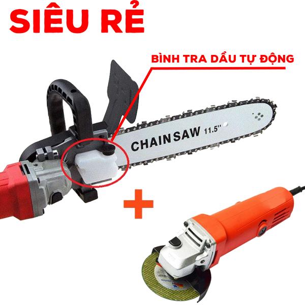 Combo máy mài góc + lưỡi cưa xích - máy cắt cầm tay - máy cắt cây giá rẻ - máy cưa cầm tay - máy cưa cây - máy cắt cành - máy cưa gỗ - máy cưa xích - lam cắt cây - máy cắt - máy mài - máy cưa