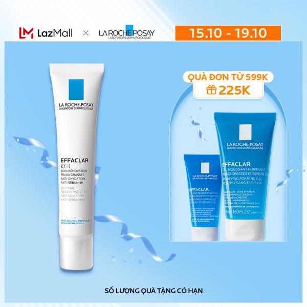 Kem dưỡng giúp cải thiện bề mặt da, giảm mụn đầu đen và giảm bóng nhờn La Roche Posay Effaclar K+ 40ml giá rẻ