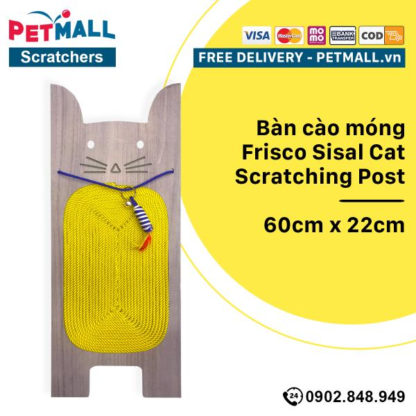 Bàn cào móng Frisco Sisal Cat Scratching Post 60cm x 22cm