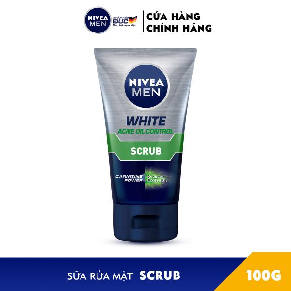 Combo 2 Sữa Rửa Mặt NIVEA MEN Chứa Hạt Mát-Xa Kiểm Soát Nhờn (100G) - 84428