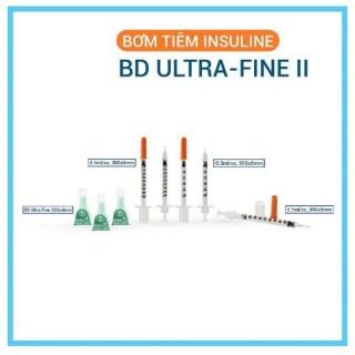 Hộp 100 cây kim tiêm tiểu đường Insulin BD Ultra Fine II 0.3ml - Made in USA Chính hãng thumbnail