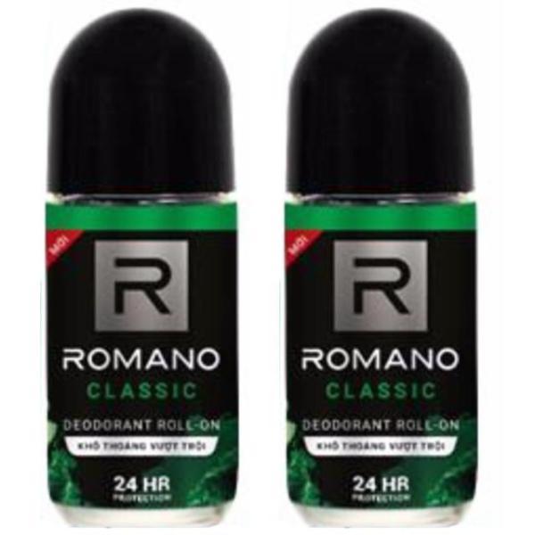 Combo 2 lăn khử mùi Romano Clasic 50ml (50mlx2)