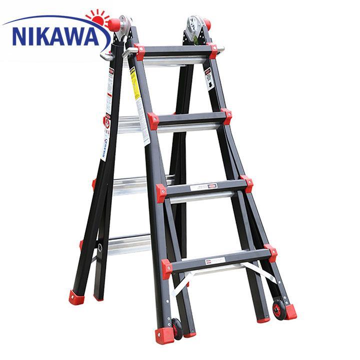 Thang nhôm gấp đa năng Nikawa NKB-44 (Đen phối cam)