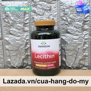 Viên uống Swanson Soy Lecithin 520mg per capsule Non-GMO 250 viên của Mỹ - Hỗ trợ chống oxy hóa, ổn định nội tiết tố thumbnail