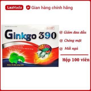 Viên uống Ginkgo 390 Red - Thành phần Ginkgo Biloba giúp hoạt huyết dưỡng não, giảm chóng mặt đau đầu, mất ngủ, tiền đình.. Kết hợp tỏi đen, việt quất, đinh lăng, bạch quả - Hộp 100 viên chuẩn GMP thumbnail
