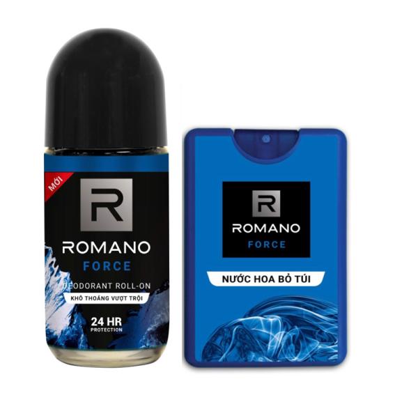 Combo Nước hoa bỏ túi Romano Force 18ml Và lăn khử mùi Romano Force 50ml giá rẻ