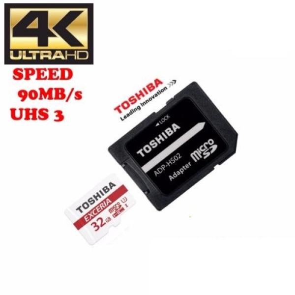Thẻ nhớ MicroSDXC Toshiba Exceria M302 32GB U3 4K 90MB/s kèm Adapter (Đen) - Phụ Kiện 1986