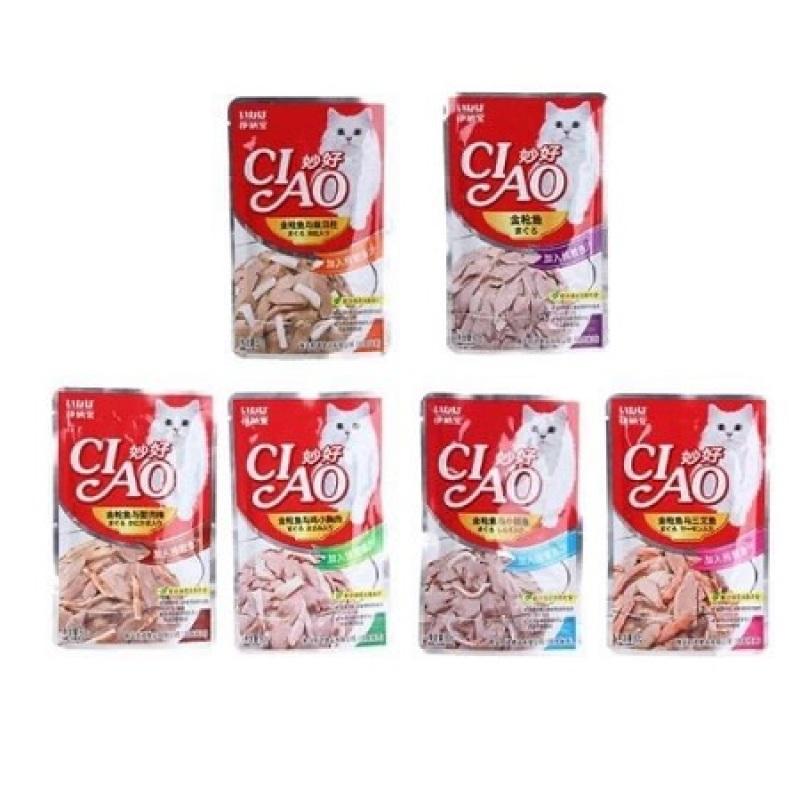 Thức Ăn Patê Ciao Cho Mèo Cao Cấp Nhiều Mùi Vị Thơm Ngon