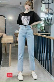 [HCM]Quần baggy nữ mẫu mới quần baggy jeans nữ lưng caoquần ống rộng trẻ trung thiết kế đơn giản cam kết hàng y hình chất lượng MINISHOP2K MN343 thumbnail