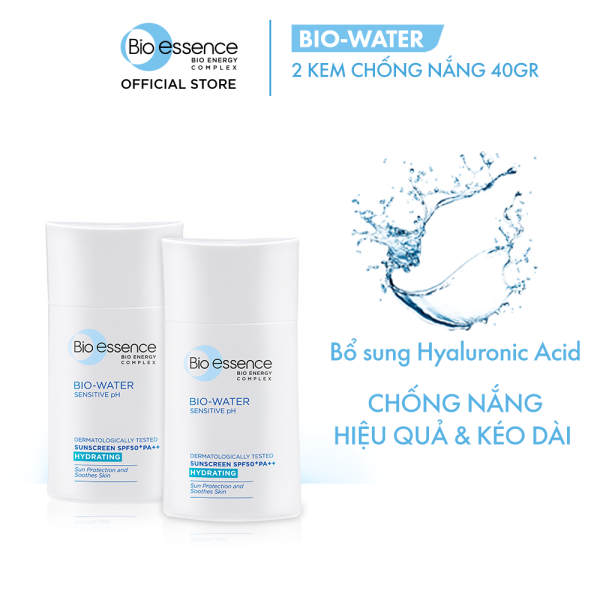 Combo 2 Kem chống nắng cho mặt Bio-Essence Bio-Water Bio-Essence Miracle Bio Water Cooling Sunscreen SPF50 (Face) 40ml