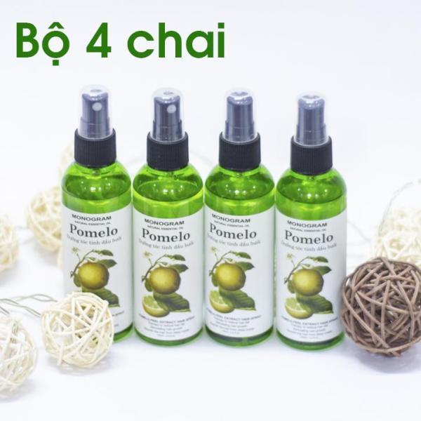 Bộ 4 chai xịt tóc Pomelo Dưỡng Tóc Từ Gốc Đến Ngọn 100ml x4 giá rẻ