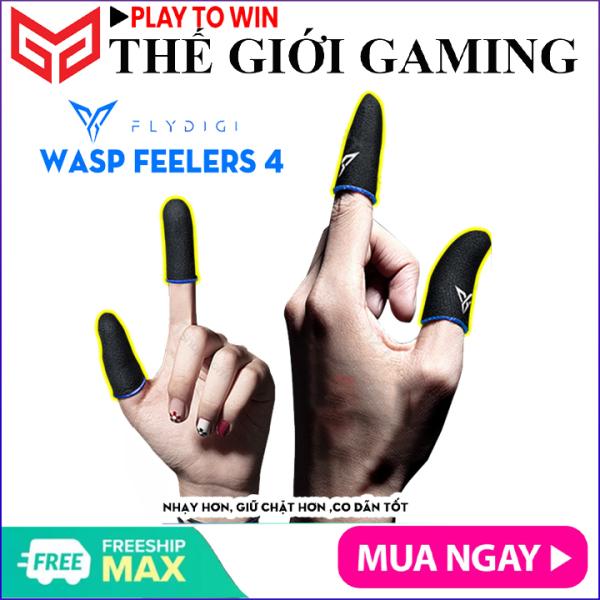 [ THẾ HỆ 4 ] Flydigi Wasp Feelers 4 Găng tay chơi game Mobile siêu nhạy, siêu co dãn, siêu mỏng nhẹ như chơi tay trần, Bao tay chơi Game, Ngón tay chơi game - Hãng phân phối chính thức