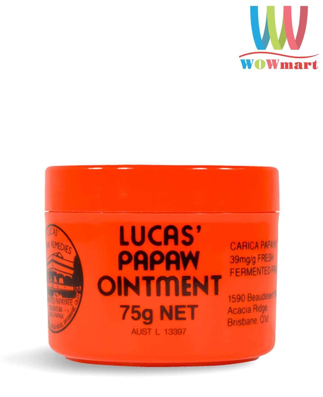 Kem bôi đa năng Lucas Papaw Ointment Úc Hũ 75g - ÚC