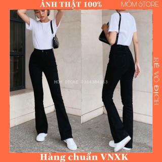 Quần jean nữ - Quần bò ống loe đen lưng cao dáng dài,co giản tốt Xuất Xịn thumbnail