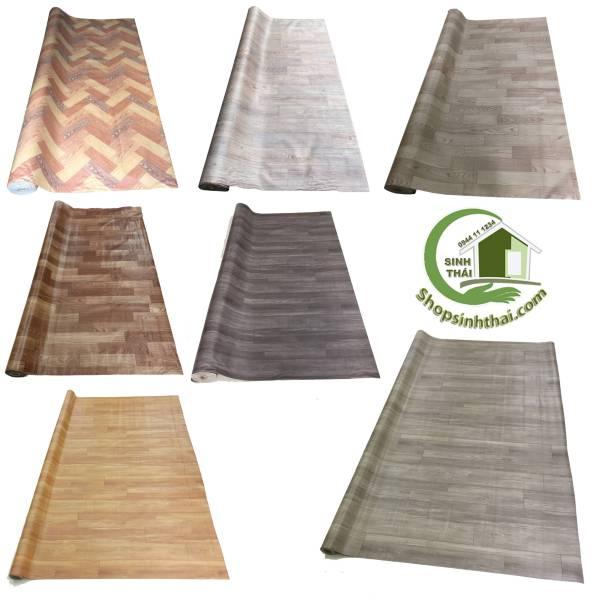 Thảm nhựa vân gỗ - simili trải sàn giả gỗ bề mặt nhám - 1m² - khổ 1m - chọn mẫu