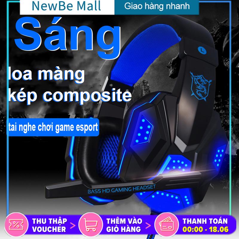 【New Be】PLEXTONE PC780 Tai nghe gaming có mic có đèn LED cho máy tính, điện thoại (khi dùng cáp chuyển đổi), Tai nghe chụp tai gaming, tai nghe chơi game PUBG, Tai nghe học tiếng Anh, tai nghe chơi game máy tính, laptop