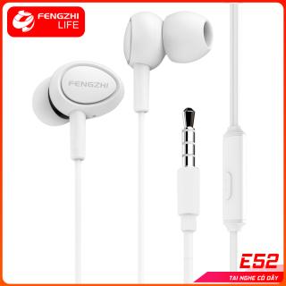 Tai nghe FENGZHI LIFE E52 cao cấp nhét tai chống ồn jack3.5mm chính hãng dành cho iPhone Samsung OPPO VIVO HUAWEI XIAOMI tai nghe có dây thumbnail