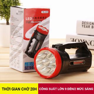 Đèn pin cầm tay, đèn Led cầm tay, 2 mức sáng, đèn pin sạc điện, đèn pin cầm tay đi bộ, dã ngoại thumbnail