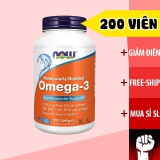 Dầu Cá Omega 3 Now 200 Viên - Vitamin Bổ Mắt Sáng Mắt - Chính Hãng Muscle Fitness thumbnail