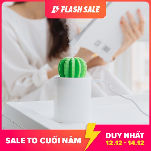 Xiaomi Ecological Chain Urallife Máy phun sương siêu âm tạo độ ẩm mini làm sạch không khí có kèm đèn ngủ thiết kế hình cây sương rồng phù hợp khi sử dụng tại nhà hoặc văn phòng, dung tích 280ml - INTL