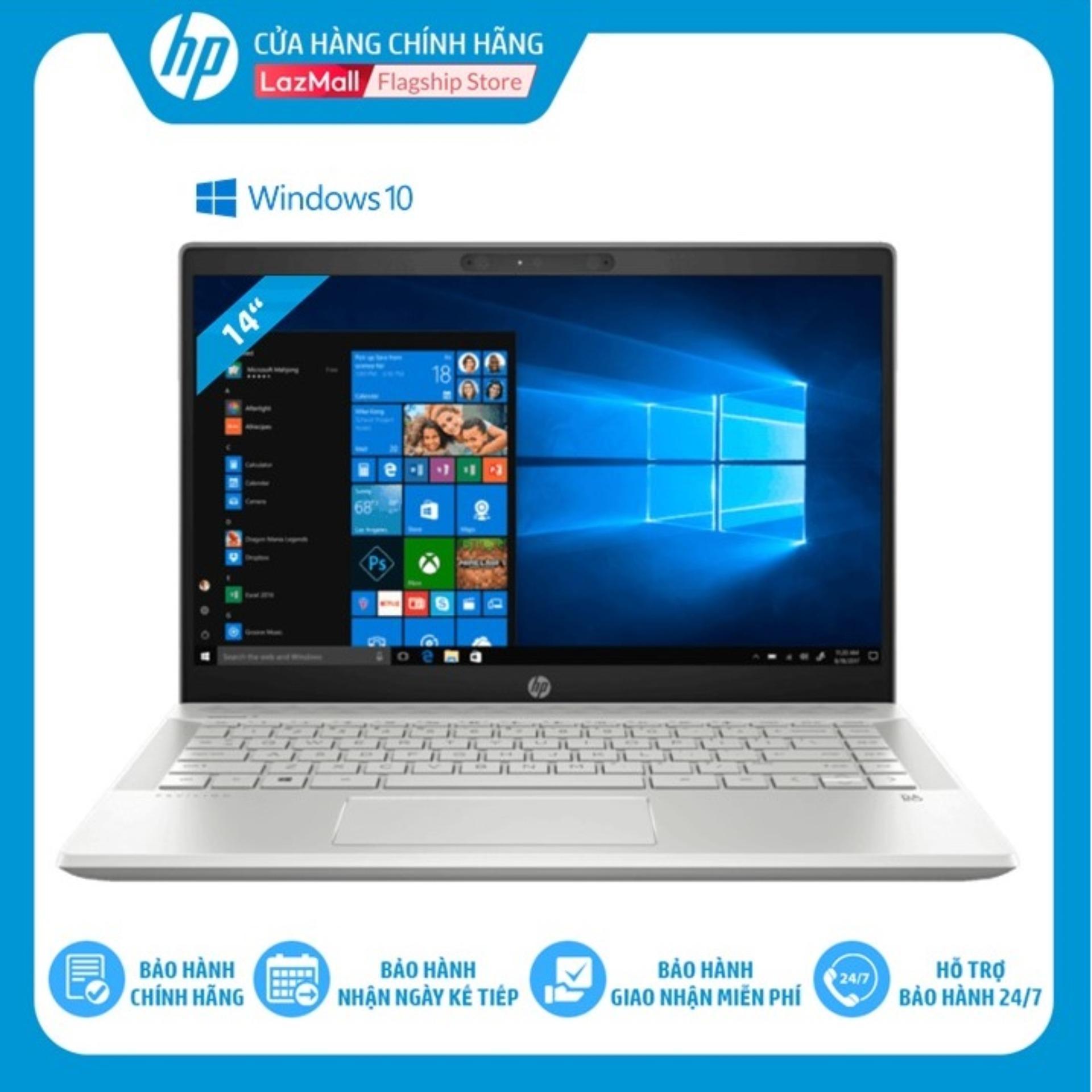 Laptop HP Pavilion 14-CE2039TU (Intel i5-8265U/ 4GB RAM DDR4/ 1TB HHD/ 14 FHD/ WIN10 HOME/Màu bạc khoáng-6YZ15PA) - Hàng Chính Hãng