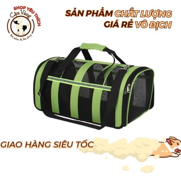 Túi xách vận chuyển mèo chó tiện lợi gấp gọn dễ dàng chất liệu lưới thoáng khí phản quang size to
