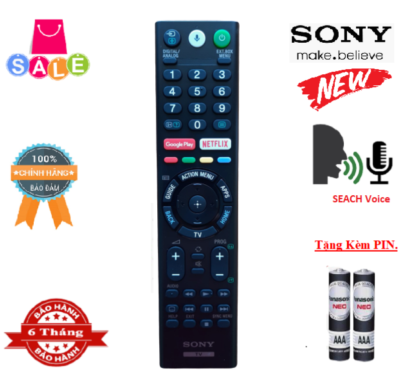 Bảng giá Remote Điều khiển tivi Sony giọng nói RMF-TX310P- Hàng mới chính hãng Full Box 100% Tặng kèm Pin