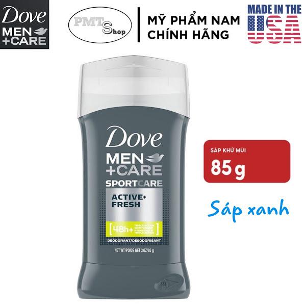 [USA] Lăn Sáp Khử Mùi Nam Dove Men Care Sport Active Fresh 85g (sáp xanh) - Mỹ cao cấp