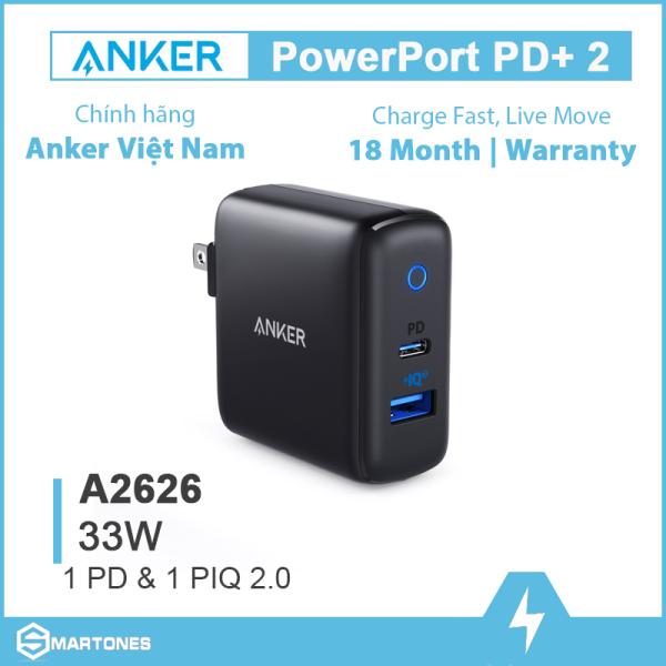 Sạc Anker PowerPort PD+2, 33w -A2626 cho điện thoại và máy tính bảng