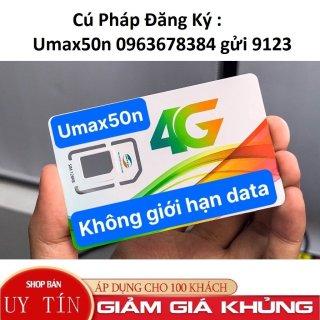 SIM Viettel 4G Umax50N Không Giới Hạn Lưu Lượng Tốc Độ Cao Max Băng Thông thumbnail