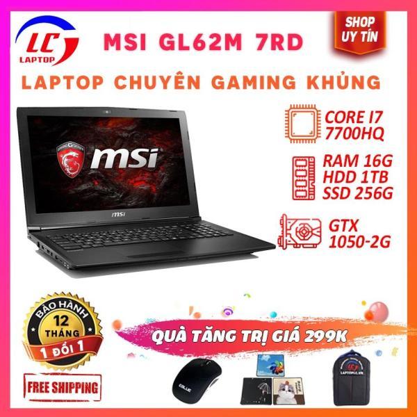 Bảng giá Laptop Chuyên Game MSI GL62M 7RD Core i7-7700HQ, ram 16g, ssd 256g+ hdd 1tb, VGA GTX 1050M/ 15.6 inch Full HD 1920x1080, laptop đồ họa, laptoplc Phong Vũ