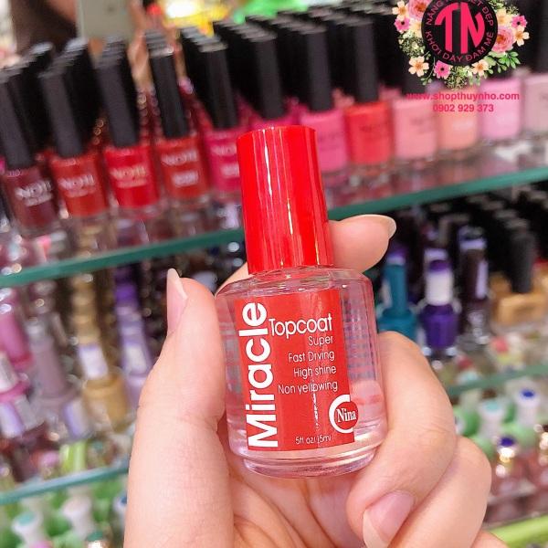 Sơn bóng mau khô nắp đỏ Miracle - Mỹ giá rẻ