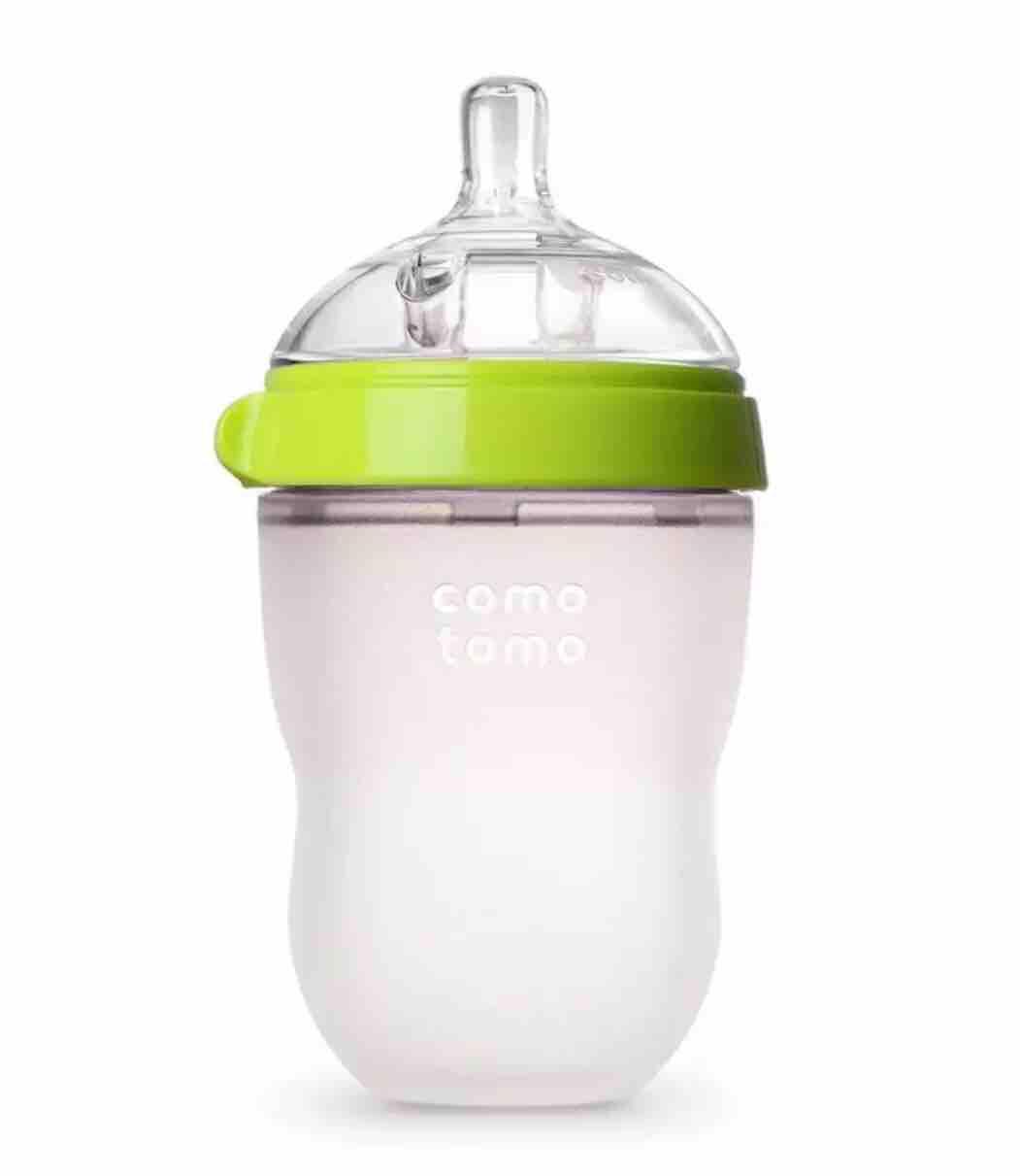 Bình sữa comotomo 250ml siêu mềm núm ty 2 tia
