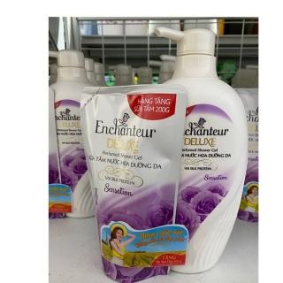 Sữa tắm nước hoa dưỡng da Enchanteur 650 g xanh (tặng kèm túi 200 g ) thumbnail