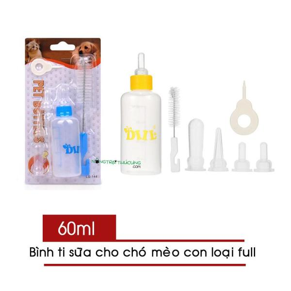 Bình bú - Bình ti sữa cho chó mèo sơ sinh full phụ kiện - Nhiều kích cỡ - [Nông Trại Thú Cưng]
