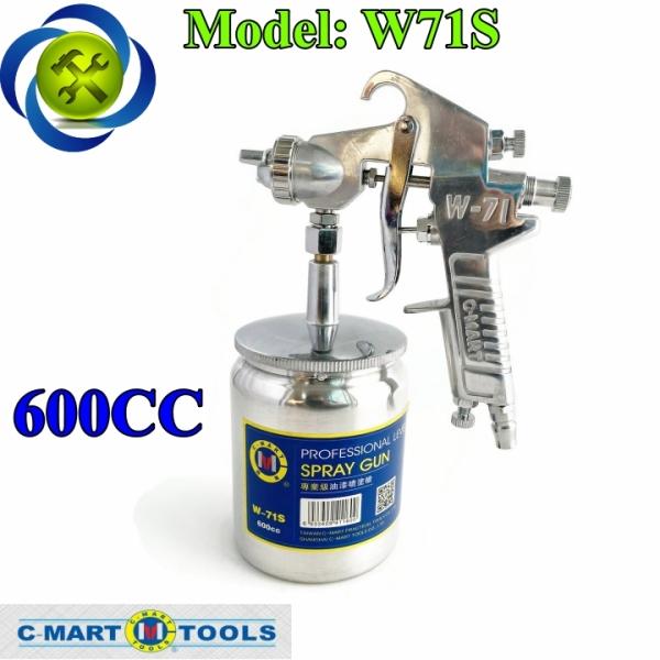 Súng phun sơn C-Mart W-71S bình dưới dung tích 600cc