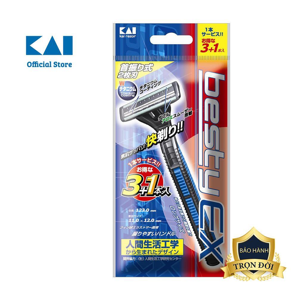 Dao cạo râu cao cấp Nhật Besty Ex 2 Blade/3+1 tốt nhất
