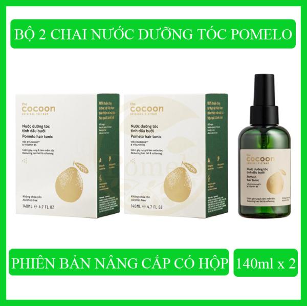 Bộ 2 chai Nước dưỡng tóc tinh dầu bưởi Pomelo Cocoon (140ml x 2) giúp giảm rụng tóc, kích thích tóc mọc nhanh, phục hồi tóc hư tổn