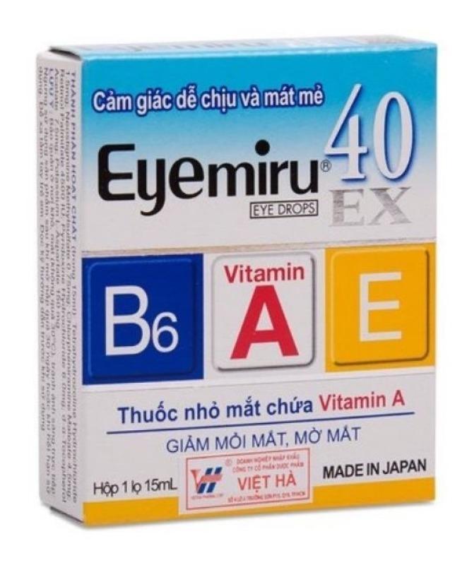 Dung dịch nhỏ mắt Eyemiru Ex: sản xuất tại Nhật Bản