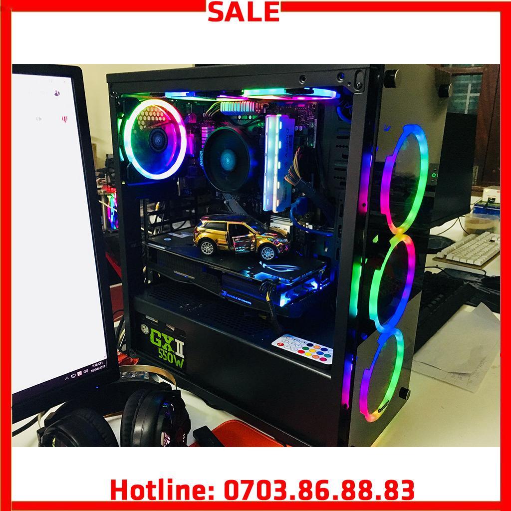 Bộ Máy Tính Bàn Live Stream, PC Gaming, đồ Họa Ryzen 5 2600, RAM 16G, VGA RX 580 8G Không Thể Rẻ Hơn tại Lazada