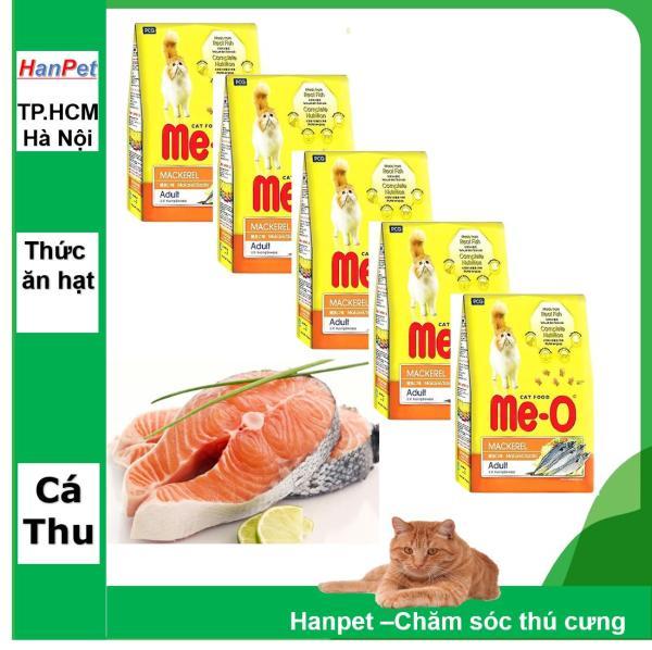 HCM -COMBO 5 gói thức ăn dạng hạt  cho mèo ME-O 350gr (Chọn 3 Vị )  Thức ăn cap cấp Dành cho mèo lớn