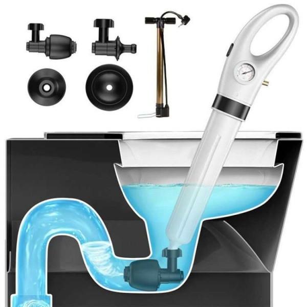 [HCM]Dụng cụ thông tắc cống tắc bồn cầu Chậu Rửa Nhà TắmBồn Rữa Chén Bát đa năng bằng khí nén cao ápcực mạnh thao tác đơn giảnnhanh chóng hiệu quả + Tặng kèm bơm và phụ kiện