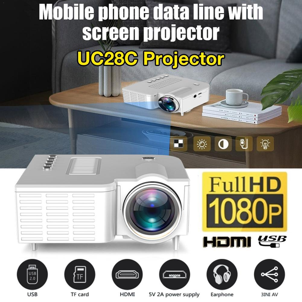 Deal Giảm Giá UC28C Portable Video Projector Home Theater Cinema Office Supplie Support For Smart Phones