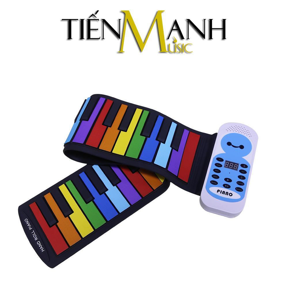 Đàn Piano Konix 49 phím cuộn mềm dẻo Flexible PE49C (Hand Roll Up Piano Standard 49 Keys Silicone Portable Electronic)