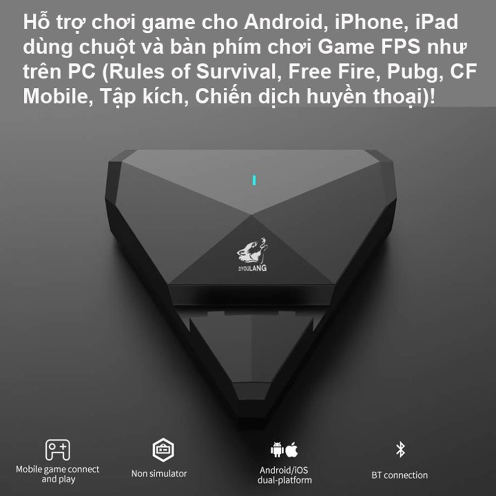 Bộ Chuyển Đổi FREEWOLF G1/G5/G5 pro/G6 hỗ trợ chơi game PUBG Mobile cho Android IOS Chơi Game PUBG Mobile Kiêm Giã Đỡ Pad như PC
