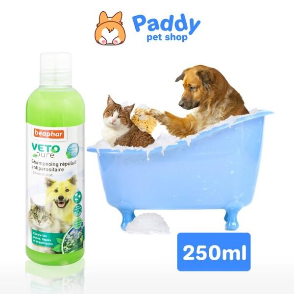 Sữa Tắm Ngăn Ngừa Ve Và Bọ Chét Cho Chó Mèo Beaphar Veto Pure Bio Shampoo Flea & Tick