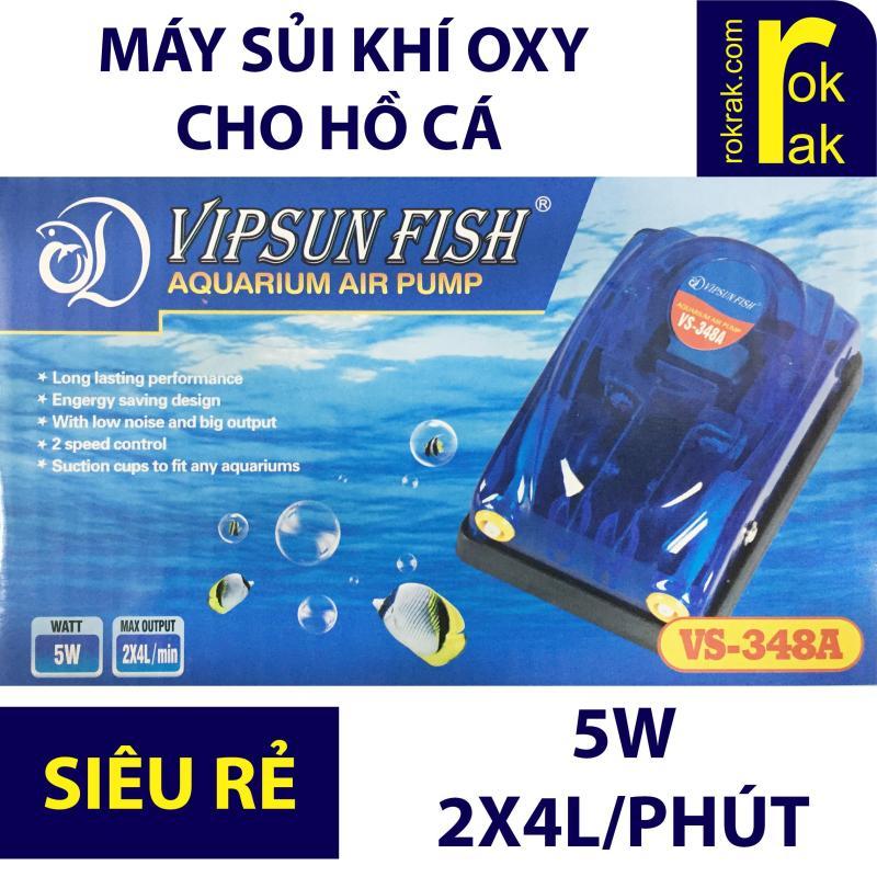 Máy sục khí oxy 2 vòi 5W VIPSUN VS-348A cho bể cá