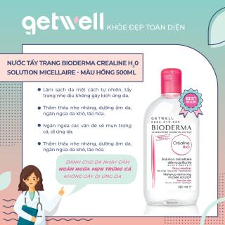 HỒNG Nước Tẩy Trang Dành Cho Da Nhạy Cảm Bioderma Crealine H20 Solution micellaire 500ml - Màu hồng thumbnail