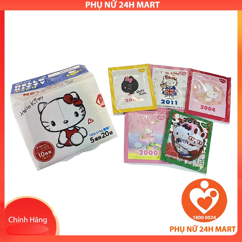 Gia Vị Rắc Cơm Thập Cẩm Hello Kitty (5g*20 gói) Nhật Bản Cho Bé Từ 1 Tuổi, Rắc Cơm Rong Biển Cho Bé, Rắc Cơm Tươi Cho Bé, Rắc Cơm Nhật, Gia Vị Rắc Cơm Nhật Bản