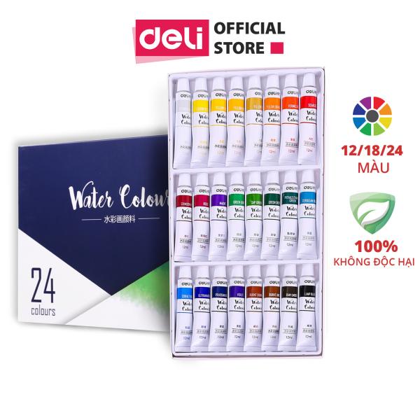 Mua Màu nước dạng tuýp Deli - 12 màu/18 màu/24 màu - 73850 / 73851 / 73852
